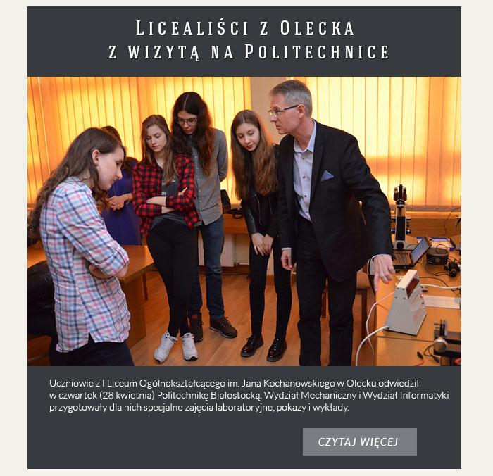 Licealiści z Olecka z wizytą na Politechnice