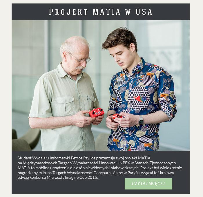 Projekt MATIA w USA