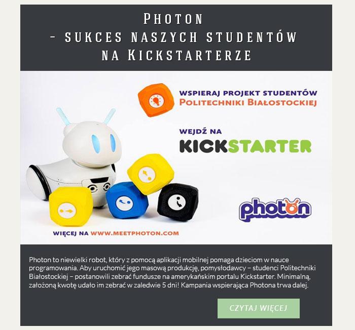 Photon – sukces naszych studentów na Kickstarterze