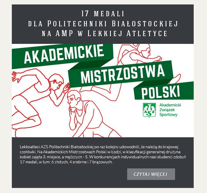 17 medali dla Politechniki Białostockiej na AMP w Lekkiej Atletyce