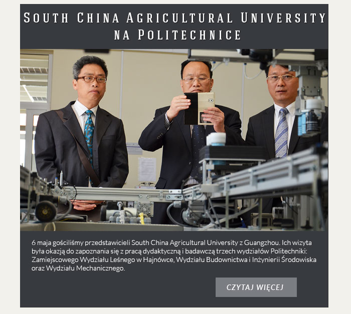 South China Agricultural University na Politechnice