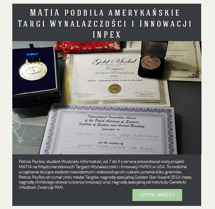 MATIA podbiła amerykańskie Targi Wynalazczości i Innowacji INPEX