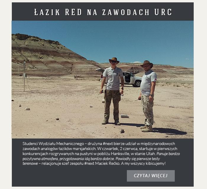 Łazik RED na zawodach URC