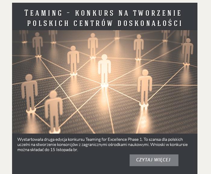 Teaming – konkurs na tworzenie polskich centrów doskonałości