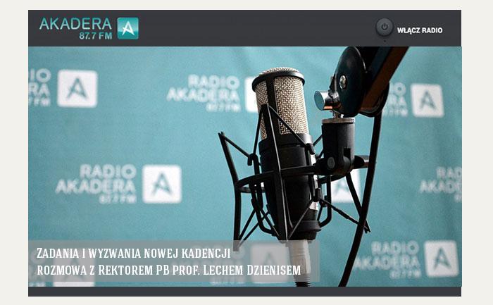 Zadania i wyzwania nowej kadencji – rozmowa z Rektorem PB prof. Lechem Dzienisem