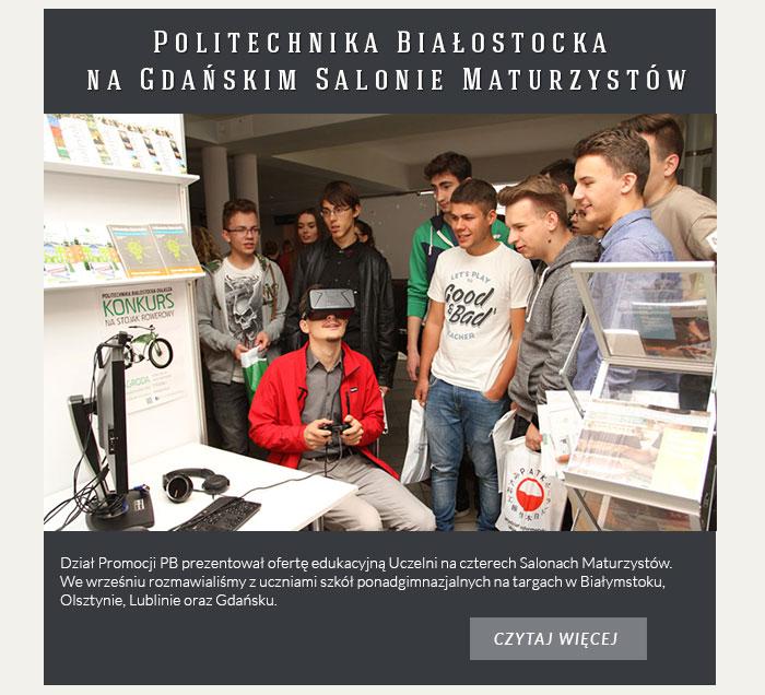 Politechnika Białostocka na Gdańskim Salonie Maturzystów