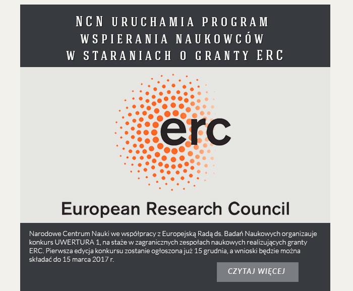 NCN uruchamia program wspierania naukowców w staraniach o granty ERC