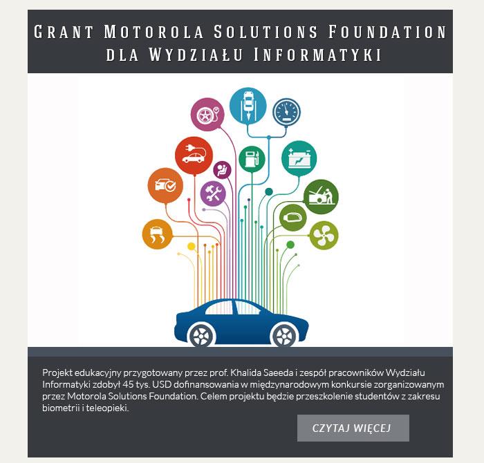 Grant Motorola Solutions Foundation dla Wydziału Informatyki