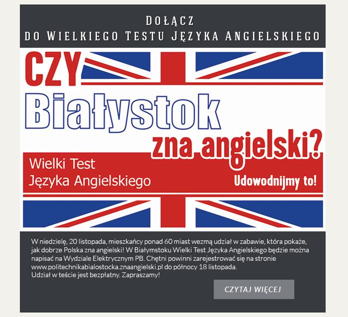 Dołącz do Wielkiego Testu Języka Angielskiego