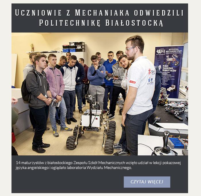 Uczniowie z Mechaniaka odwiedzili Politechnikę Białostocką