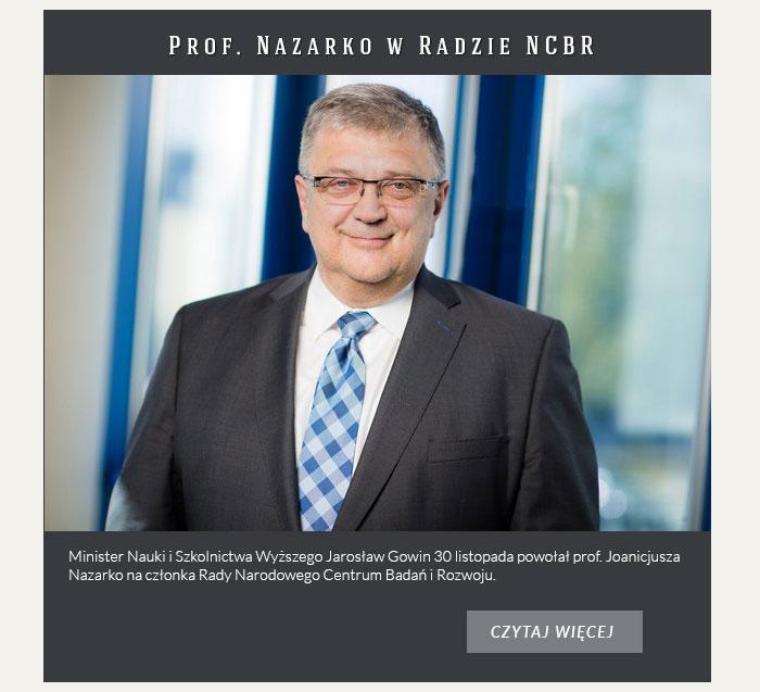 Prof. Nazarko w Radzie NCBR