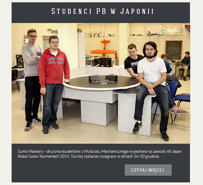 Studenci PB wystąpią w Japonii