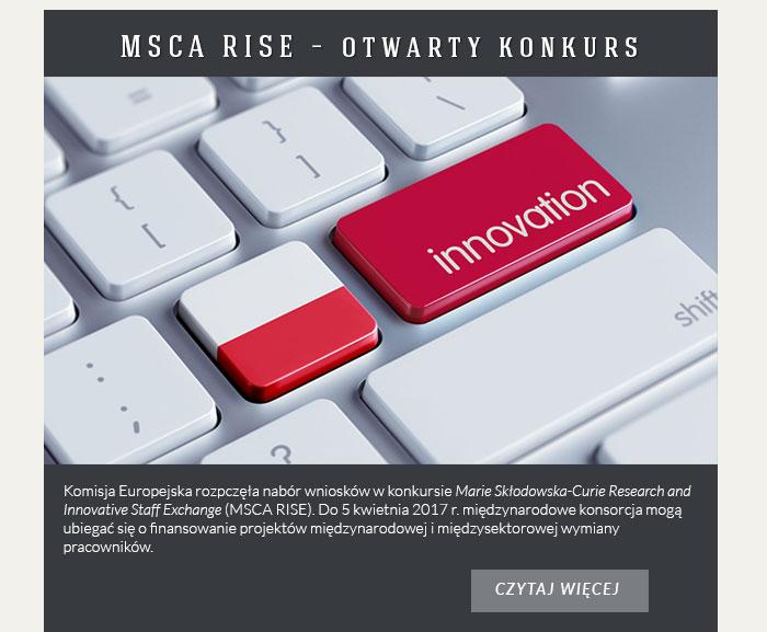 MSCA RISE – otwarty konkurs
