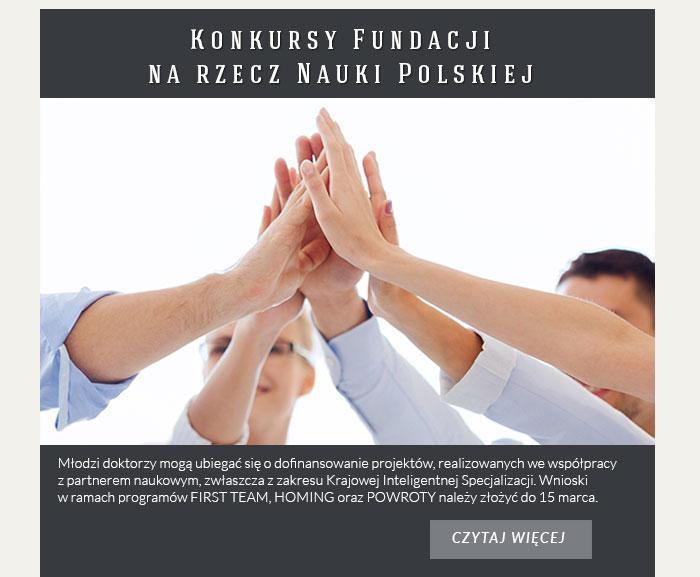 Konkursy Fundacji na rzecz Nauki Polskiej
