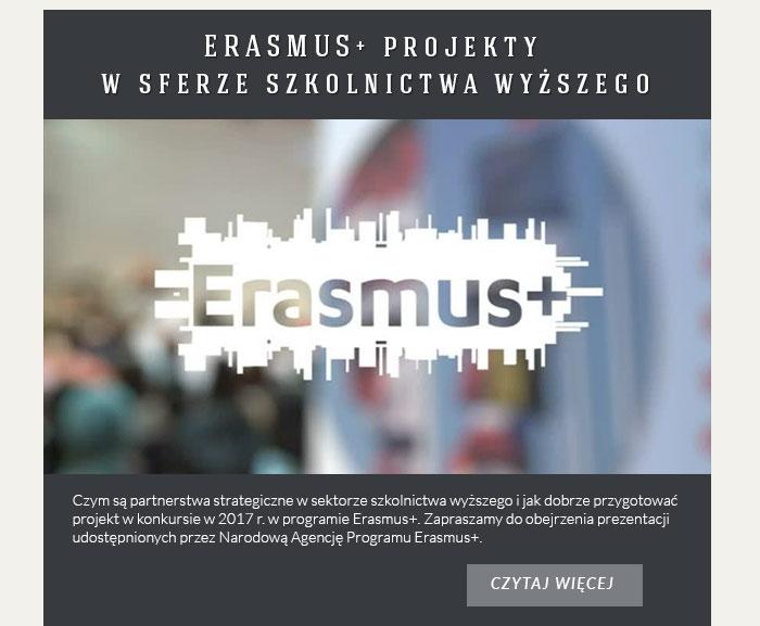 ERASMUS+ projekty w sferze szkolnictwa wyższego