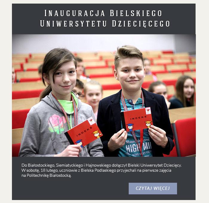 Inauguracja Bielskiego Uniwersytetu Dziecięcego