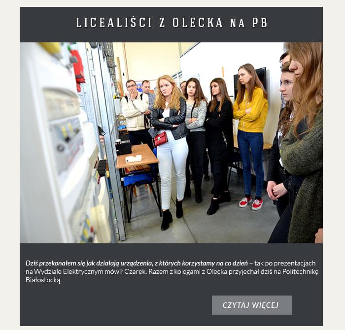 Uczniowie z Olecka na PB