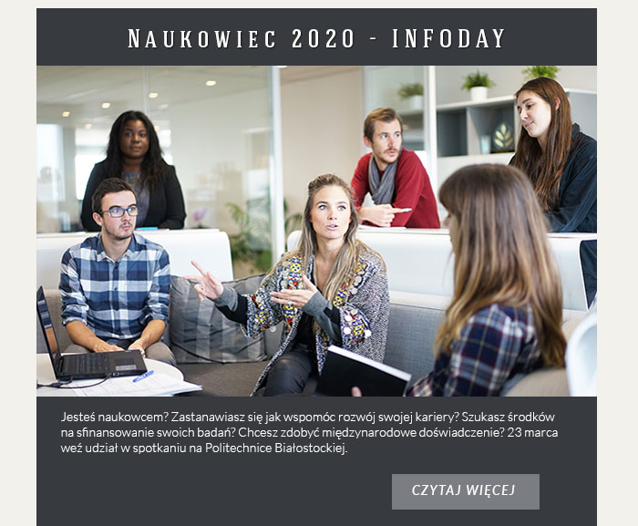 Naukowiec 2020 - INFODAY