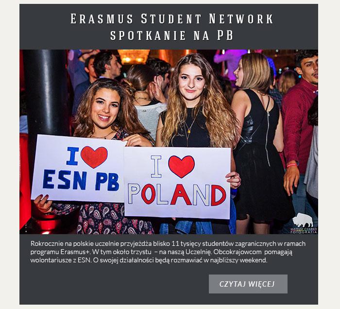 Erasmus Student Network  – spotkanie na PB