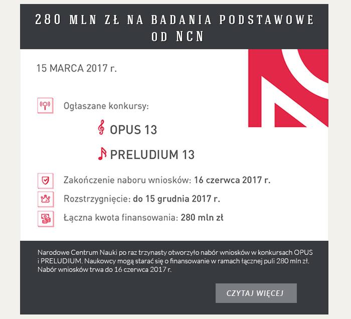 280 mln zł na badania podstawowe od NCN