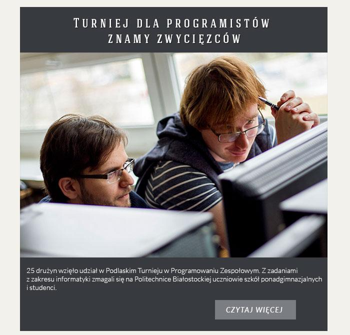 Turniej dla programistów znamy zwycięzców