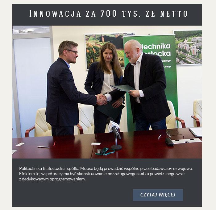 Innowacja za 700 tys. zł netto