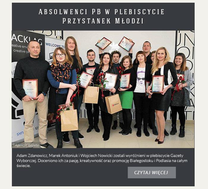 Absolwenci PB w plebiscycie Przystanek Młodzi