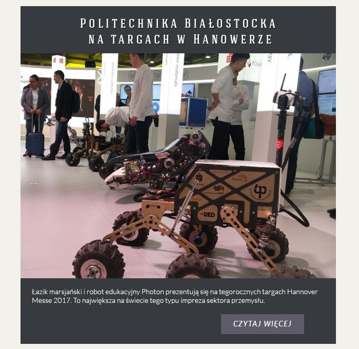Politechnika Białostocka na targach w Hanowerze