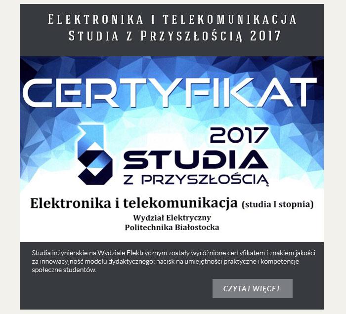 Elektronika i telekomunikacja – Studia z Przyszłością 2017
