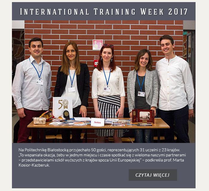 International Training Week 2017
