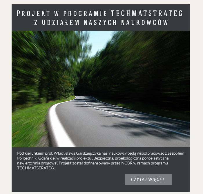 Projekt w programie TECHMATSTRATEG z udziałem naszych naukowców