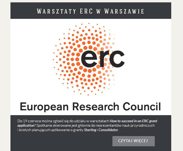 Warsztaty ERC w Warszawie