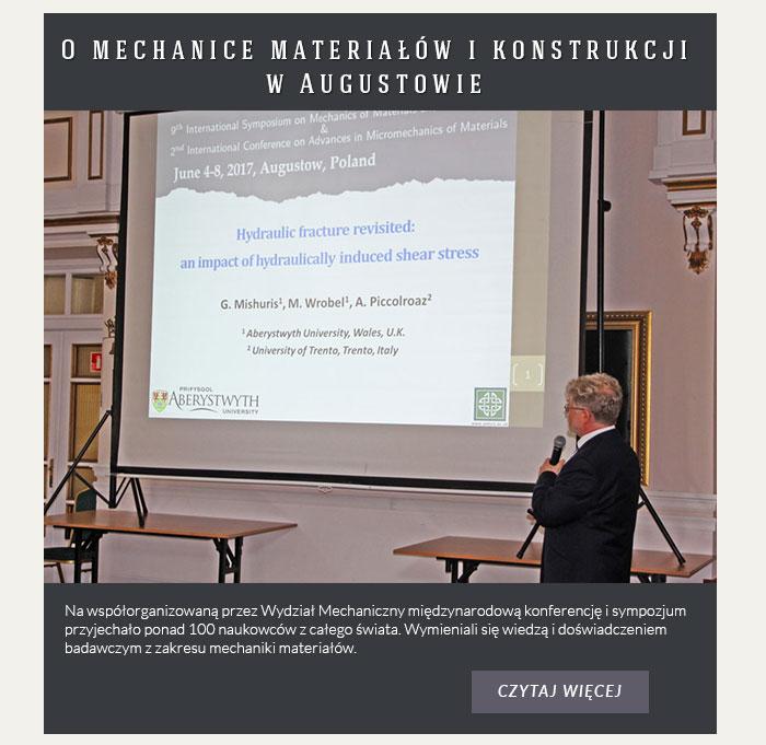 O mechanice materiałów i konstrukcji w Augustowie