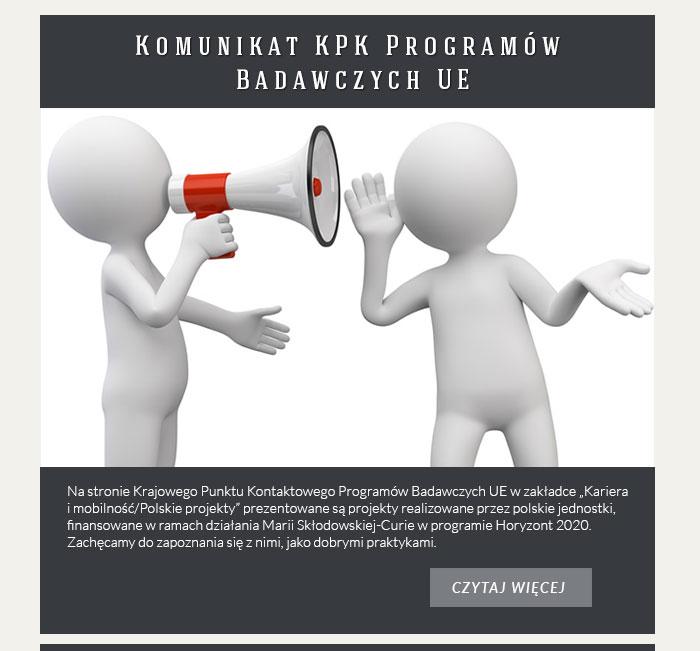 Komunikat KPK Programów Badawczych UE
