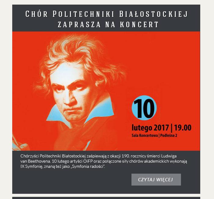 Chór Politechniki Białostockiej zaprasza na koncert