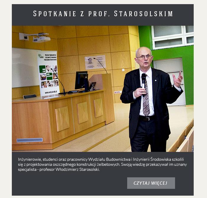 Spotkanie z prof. Starosolskim