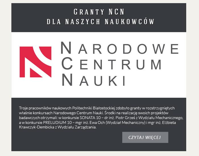 Granty NCN dla naszych naukowców
